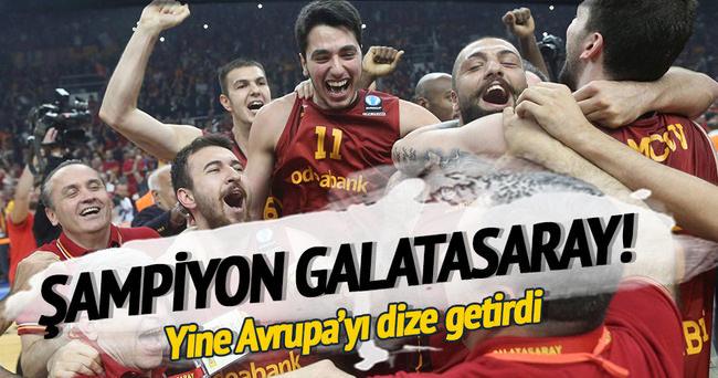 Galatasaray Avrupa şampiyonu