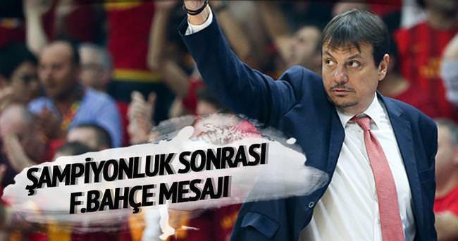 Ataman'dan şampiyonluk sonrası Fenerbahçe temennisi
