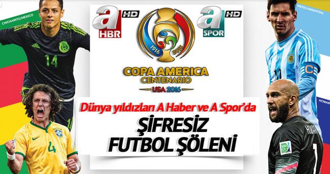 Copa Amerika A Haber ve A Spor'da
