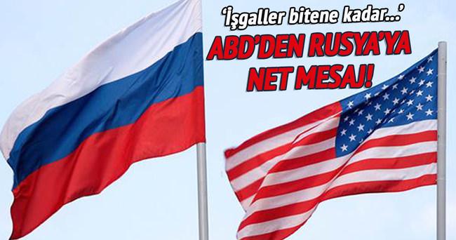 ABD'den Rusya'ya yaptırım mesajı!