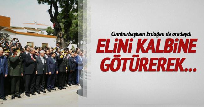 Cumhurbaşkanı Erdoğan şehit üsteğmenin cenazesine katıldı