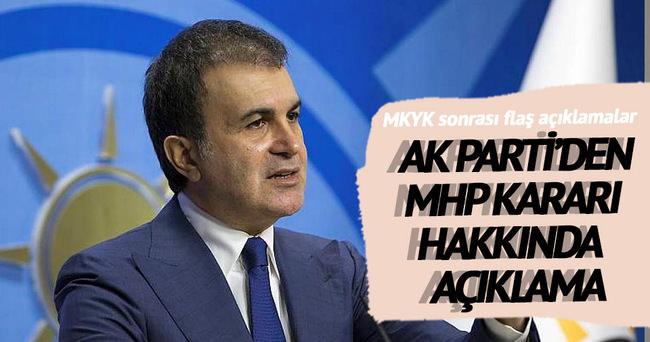 Ömer Çelik: MHP'de kimin Genel Başkan olacağı bizi ilgilendirmez
