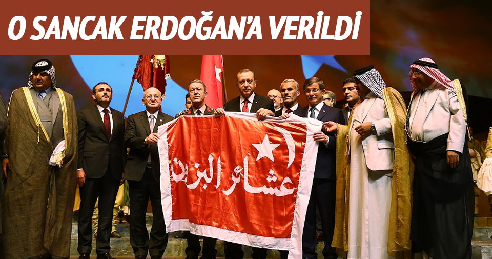 Kut'ül Amare sancağı Cumhurbaşkanı Erdoğan'a verildi