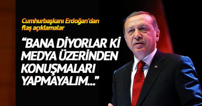Erdoğan: Parası ödendiği halde verilmeyen silahlar var