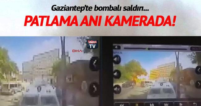 Gaziantep'te patlama anı!