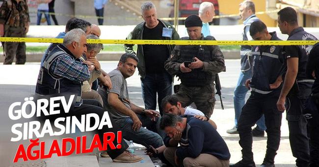 Gaziantep'te polisler ağladı!
