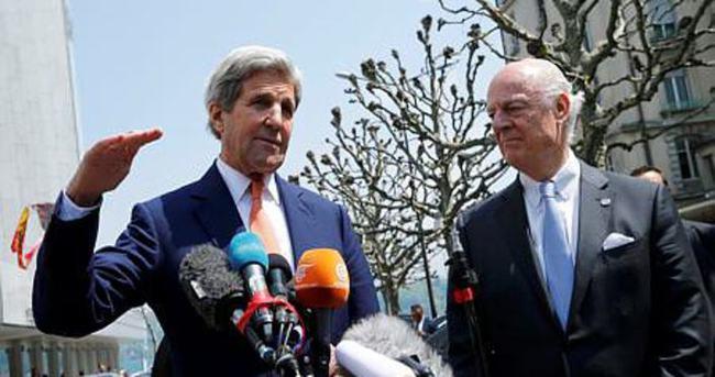 Kerry, Cübery ile Suriye'deki ateşkesi görüştü