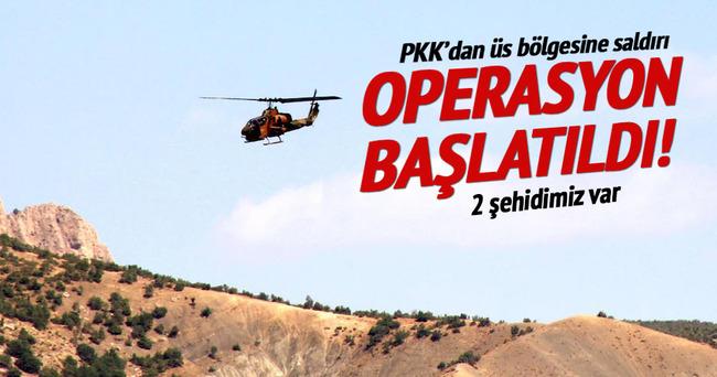 PKK'dan üs bölgesine saldırı: 2 şehit