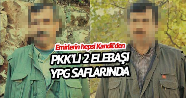 PKK'lı iki elebaşı YPG'nin başında