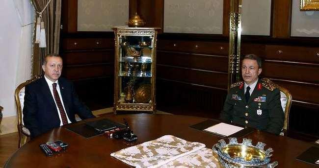 Erdoğan Orgeneral Akar'ı kabul etti