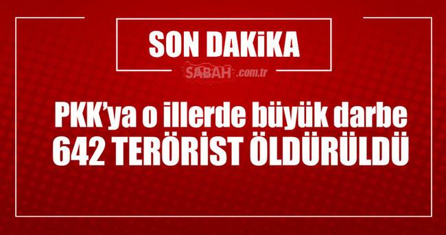 642 terörist öldürüldü!