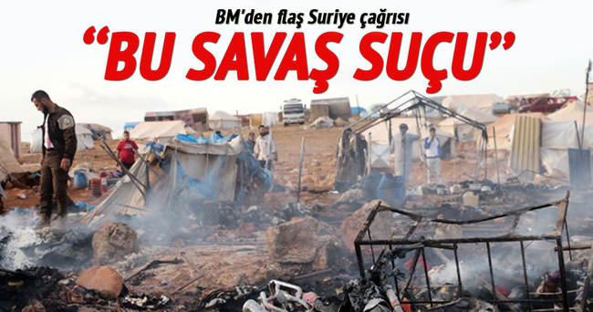 BM'den flaş Suriye çağrısı