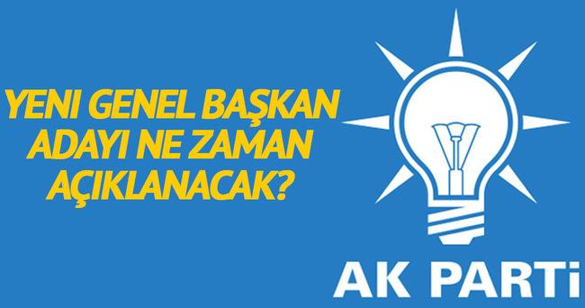 AK Parti'de Genel Başkan adayı 20 Mayıs'ta açıklanacak