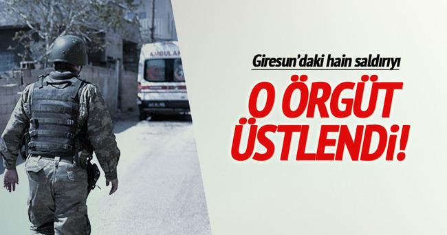 Giresun'daki hain saldırıyı HBDH üstlendi!
