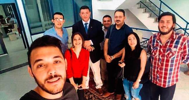 İletişim öğrencileri Kıbrıs Medya Kurumu'nu ziyaret etti