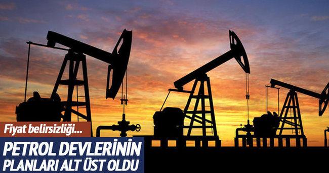 Düşük petrol fiyatları devlerin planını bozdu!