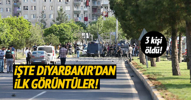 Diyarbakır'daki patlamadan hemen sonra kaydedilen görüntüler