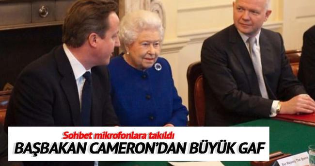 Başbakan Cameron'dan çok ağır gaf!