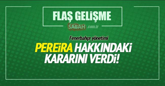 Fenerbahçe Vitor Pereira hakkındaki kararını verdi!