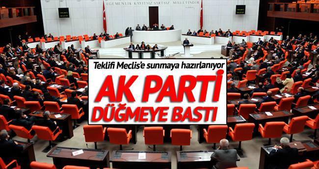 Partili cumhurbaşkanı için düğmeye basıldı