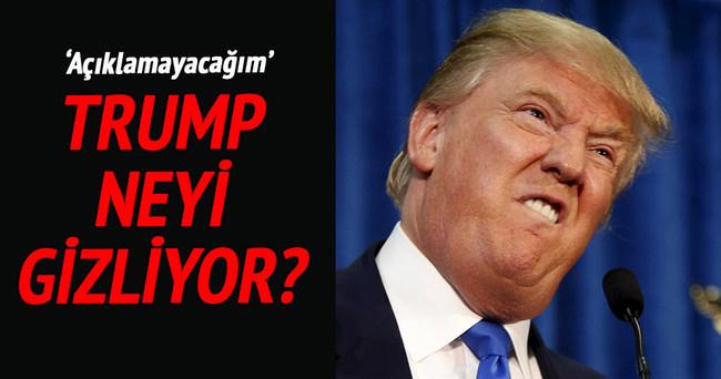 Trump, vergi beyannamesini açıklamıyor!
