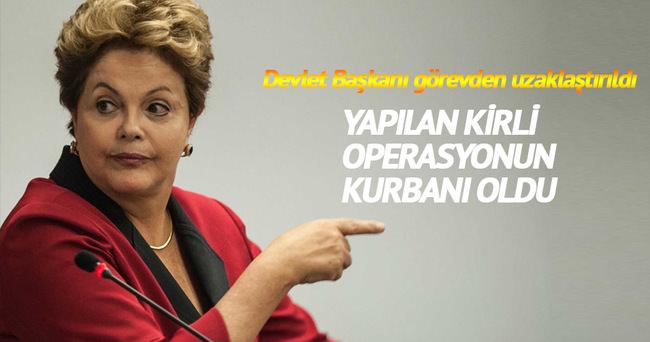 Brezilya Devlet Başkanı Dilma Rousseff görevden uzaklaştırıldı