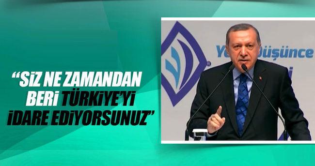 Cumhurbaşkanı Erdoğan batıya seslendi!