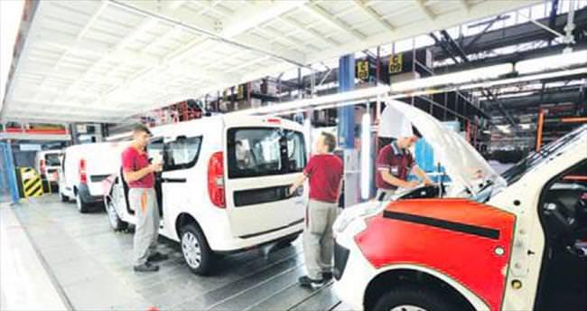 Otomotivdeki 4 aylık üretim artışı yüzde 3