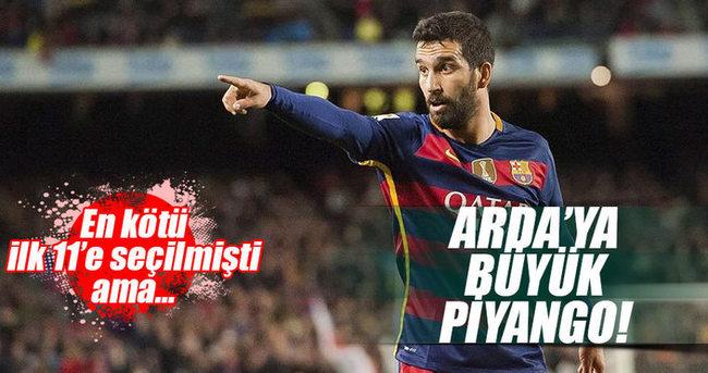 Arda Turan'a 1 milyon Euro'luk piyango!