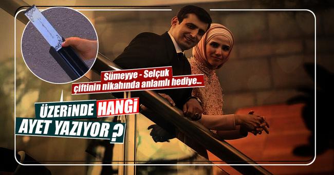 Sümeyye Erdoğan'ın nikahında anlamlı hediye
