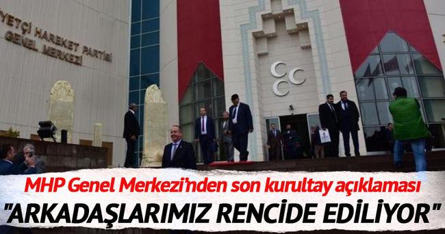 MHP'den 'kurultay' yorumu: Hukuksuz, gayrimeşru, artniyetli