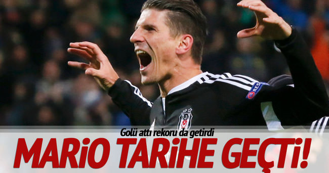 Mario Gomez Beşiktaş tarihine geçti