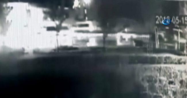 Maltepe patlama anı güvenlik kamerasında