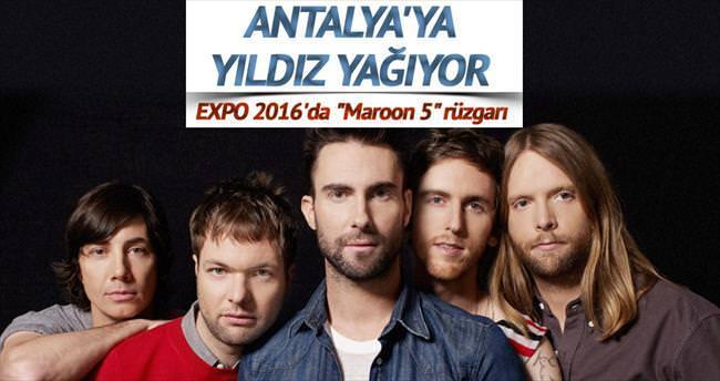 EXPO 2016'da sahne Maroon 5'in