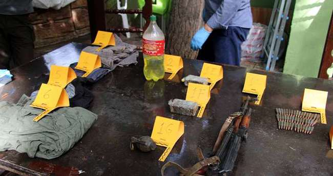 Diyarbakır'da PKK'nın silah ve mühimmatları ele geçirildi