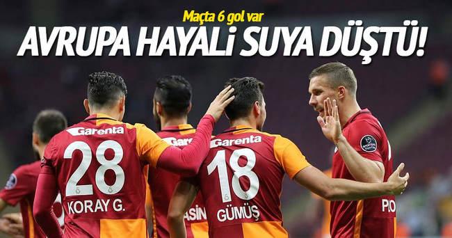 Galatasaray'ın farklı galibiyeti yetmedi