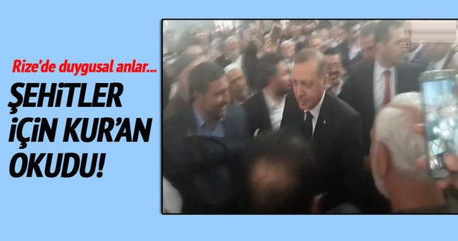 Cumhurbaşkanı Erdoğan namaz öncesi Kur'an okudu
