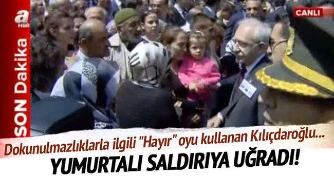 Kılıçdaroğlu'na yumurta atıldı