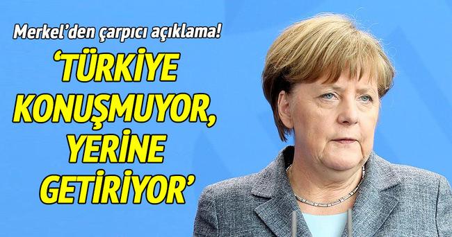'Türkiye konuşmuyor, yerine getiriyor'