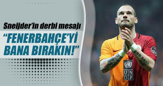 Sneijder'in derbi mesajı