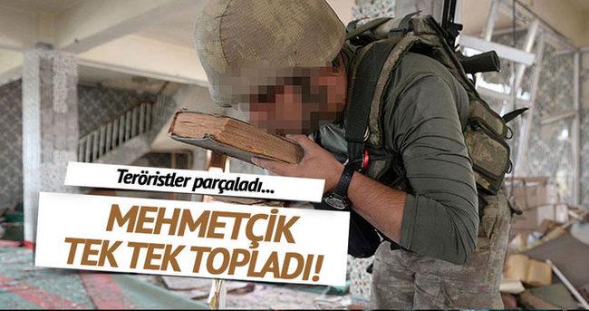 Teröristler parçaladı, askerler tek tek topladı