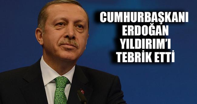 Erdoğan Yıldırım'ı tebrik etti