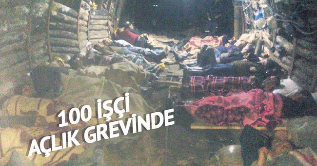 100 işçi grevde