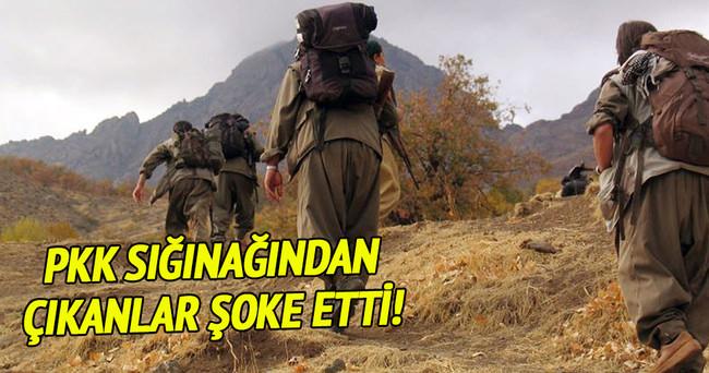 PKK sığınaklarından çıkanlar şoke etti!