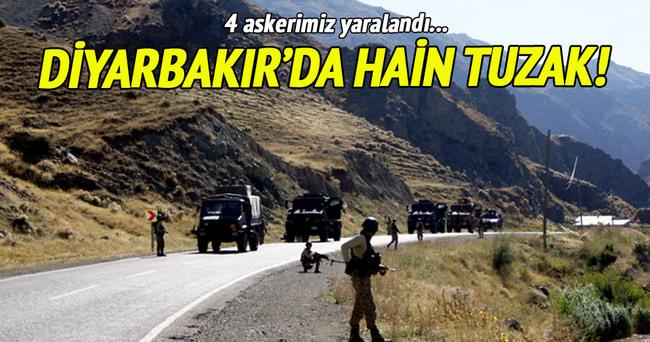 Mardin'de hain tuzak! 4 asker yaralandı