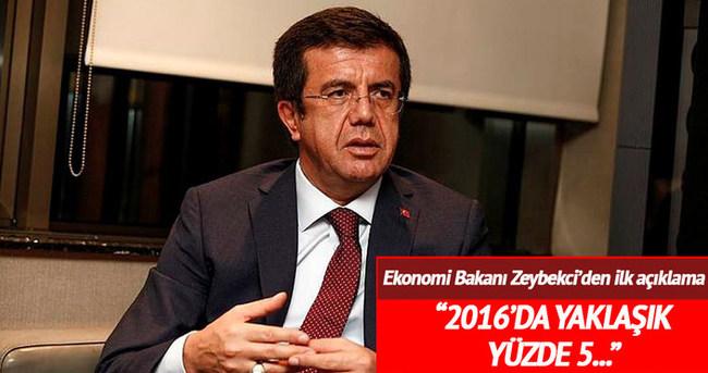 Ekonomi Bakanı Zeybekci büyüme rakamlarını açıkladı