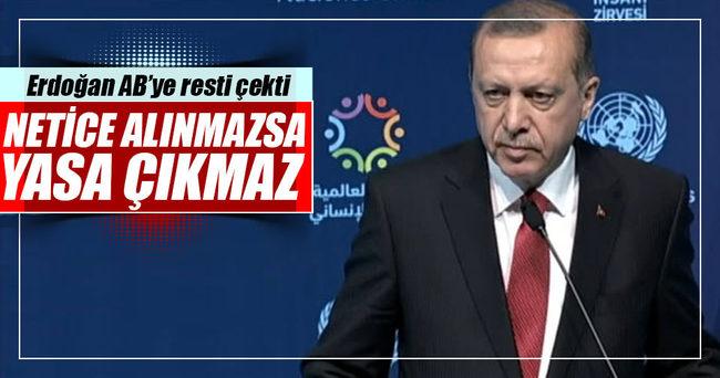 Erdoğan AB'ye resti çekti