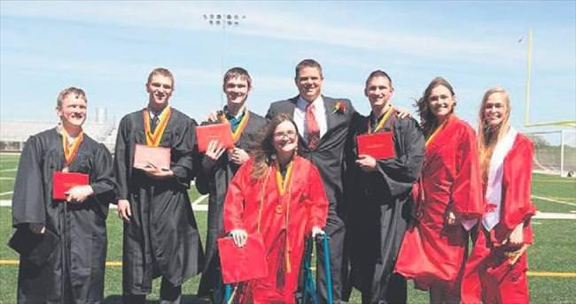 ABD'nin ünlü yedizleri liseden mezun oldu