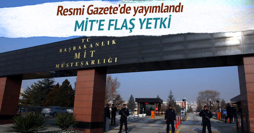 MİT'e 'örtülü silah' yetkisi