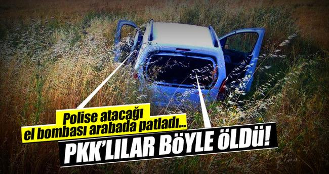Silopi'de PKK'lıların el bombası araçta patladı: 3 terörist öldü